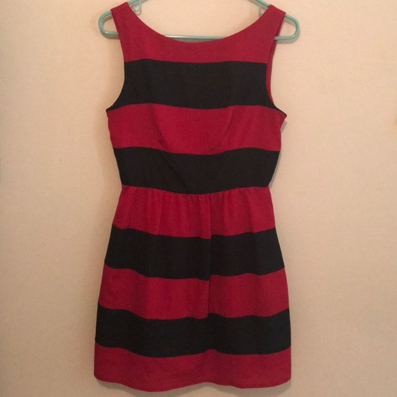 B Darlin Dresses Black And Red Striped Dress Poshmark